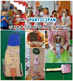 Como PARTICIPAM crianças entre os 5 e 6 anos num projeto artístico?